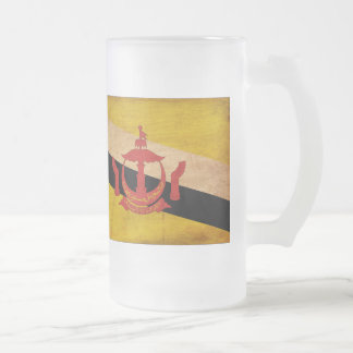 Brunei Flag Frosted Glass Mug