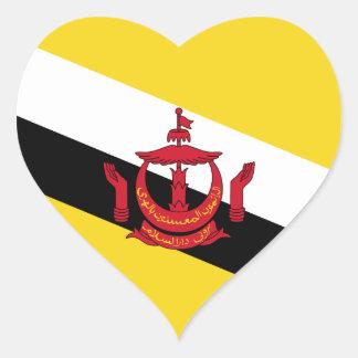 Brunei Flag Heart Sticker