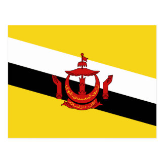 Brunei Flag Postcard