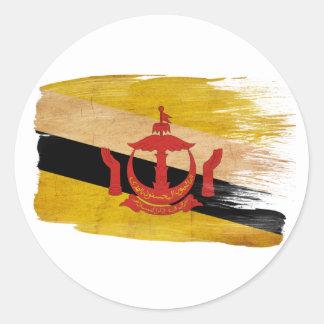 Brunei Flag Round Sticker