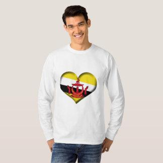 Brunei Heart Flag T-Shirt