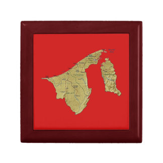 Brunei Map Gift Box