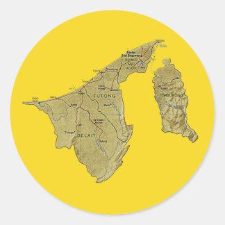 Brunei Map Sticker