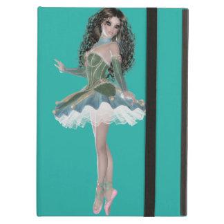 Brunette Ballerina iPad Air Case with No Kickstand