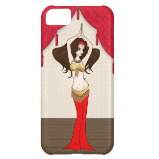 Brunette Bellydancer in Red and Gold Costume Cover For iPhone 5C