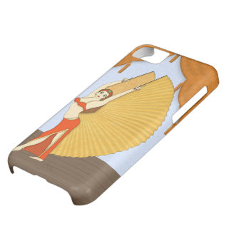 Brunette Bellydancer with Gold Isis Wings iPhone 5C Case
