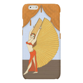 Brunette Bellydancer with Gold Isis Wings iPhone 6 Plus Case