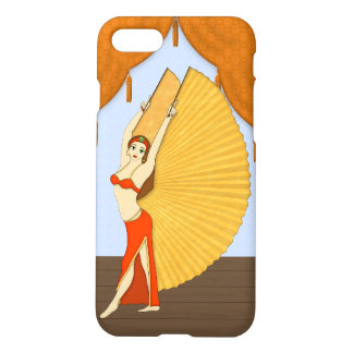 Brunette Bellydancer with Gold Isis Wings iPhone 7 Case