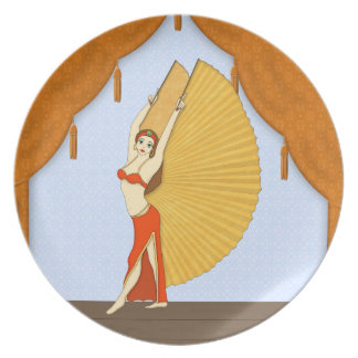 Brunette Bellydancer with Gold Isis Wings Plate