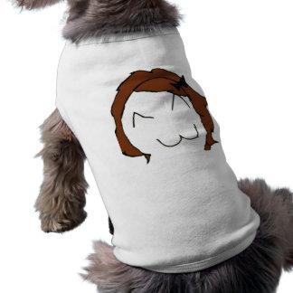 Brunette Big Smile Comic Meme Sleeveless Dog Shirt