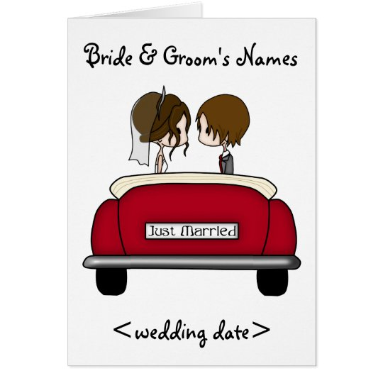Brunette Bride and Groom in a Red Wedding