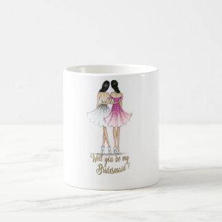 Brunette Bride/Brunette Bridesmaid Mug