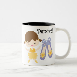 Brunette Dancer Two-Tone Coffee Mug