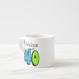 Brunette Fabulous at 40 Birthday Espresso Mug