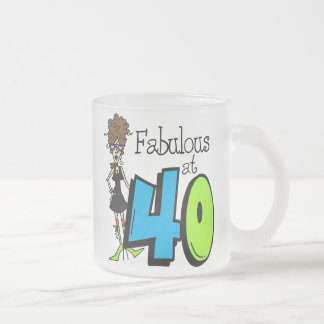 Brunette Fabulous at 40 Birthday Frosted Glass Mug
