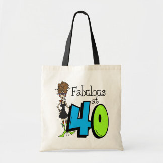 Brunette Fabulous at 40 Birthday Tote Bag