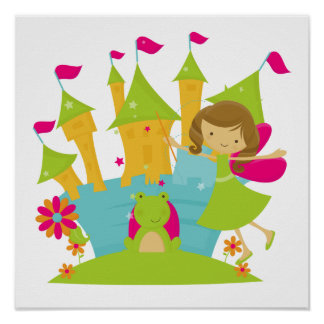 Brunette Fairy Princess Poster