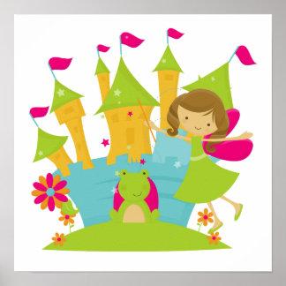 Brunette Fairy Princess Poster