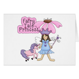 Brunette Fairy Tale Princess Greeting Card