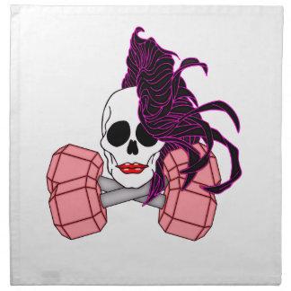brunette female skull napkin