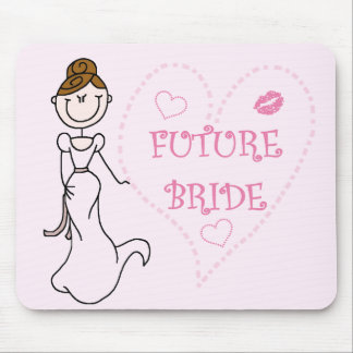 Brunette Future Bride Tshirts and Gifts Mousepad