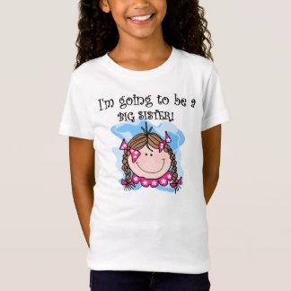 Brunette Girl Future Big Sister T-Shirt