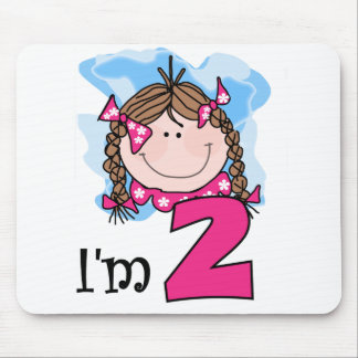 Brunette Girl I m Two Mouse Pads
