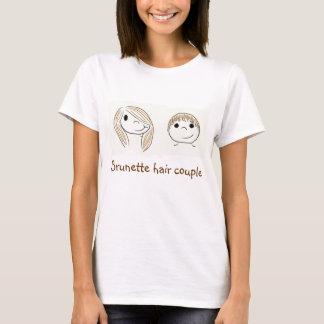 Brunette hair couple - Girlfriend T-Shirt