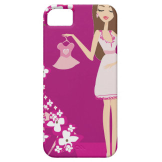 brunette pregnant woman barely there iPhone 5 case