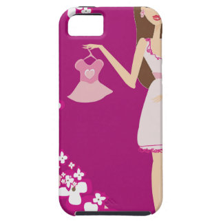 brunette pregnant woman iPhone 5 cover