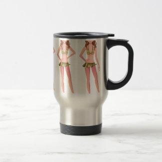 Brunette Promo Girl Stainless Steel Travel Mug