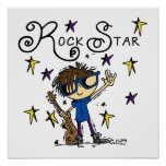 Brunette Rock Star Poster