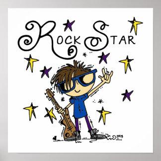 Brunette Rock Star Poster