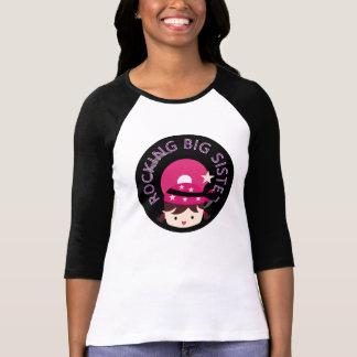 Brunette Rocking Big Sister T-Shirt