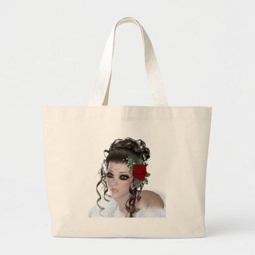 Brunette Woman Canvas Bags