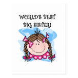 Brunette World's Best Big Sister Tshirts and Gifts Postcard