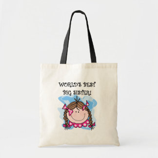 Brunette World's Best Big Sister Tshirts and Gifts Tote Bag