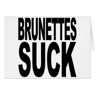 Brunettes Suck Cards