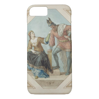 Brunhilde and Hagen, illustration for 'The Niebelu iPhone 8/7 Case