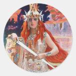 Brunhilde Round Sticker