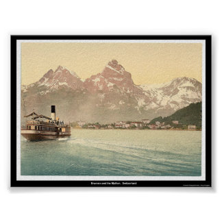 Brunnen and the Mythen,  Switzerland Poster