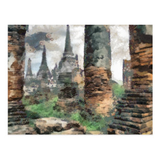 Bruno Barbier Ruins Thailand Postcard