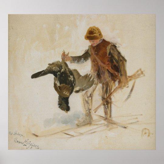 Bruno Liljefors Juvenile Grouse Hunter Study 1924 Poster