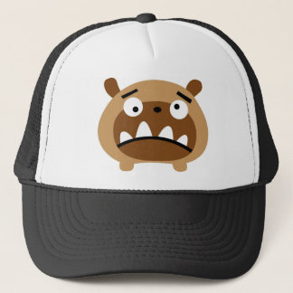 Bruno the dog trucker hat