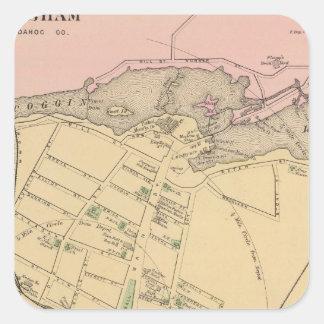 Brunswick, Topsham Square Sticker