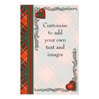 "Brus clan Plaid Scottish kilt tartan 5.5"" X 8.5"" Flyer"