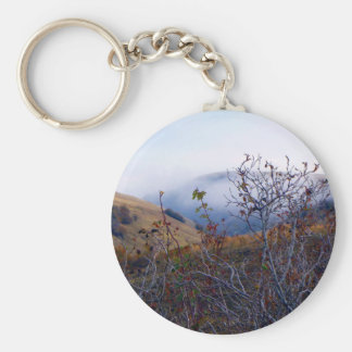 Brush and fog basic round button key ring
