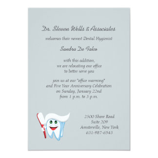 Brush and Tooth Dental Announcement/Invitation