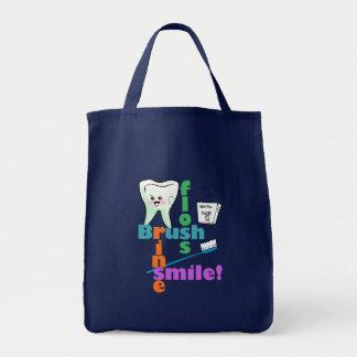 Brush Floss Rinse SMILE Tote Bag