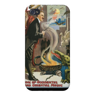Brush ~ King of Wizards Vintage Magic Act iPhone 4 Cases